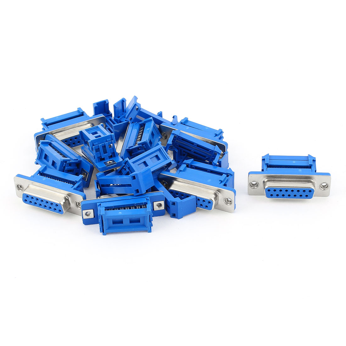 10pcs D-SUB DB15 15 Pin Female IDC Type Adapter Connector for Flat Ribbon Cable