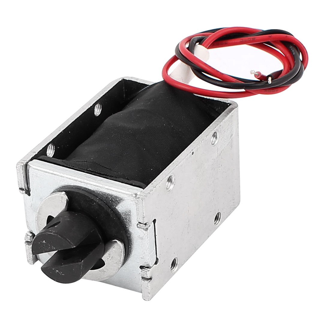 DC 24V 15mm 200g Pull Type Open Frame Solenoid Electromagnet Electric Magnet Lifting