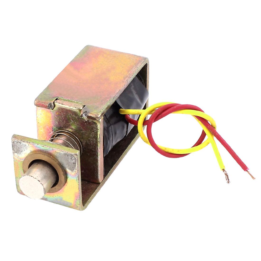 DC 6V 0.15A 8mm 12g Open Frame Electric Door Lock Solenoid Electromagnet