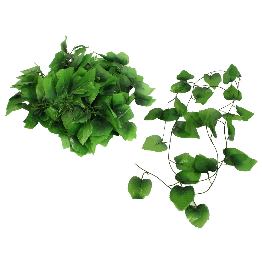 12pcs Artificial Ivy Leaf Garland Plant Vine Foliage Home Wedding Decor 2.4M