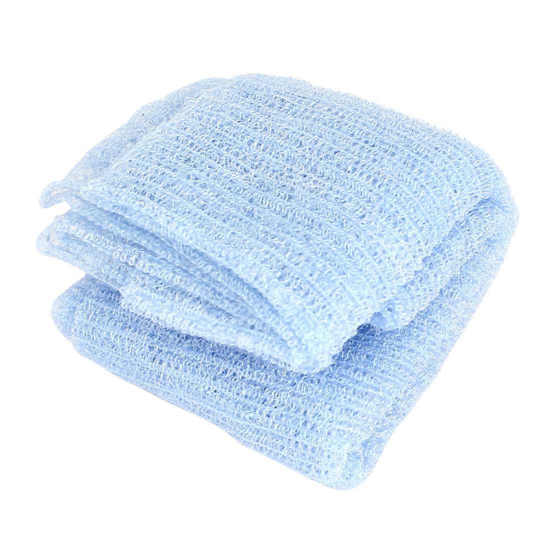 110cm x 30cm Nylon Mesh Style Bath Shower Towel Washcloths Blue