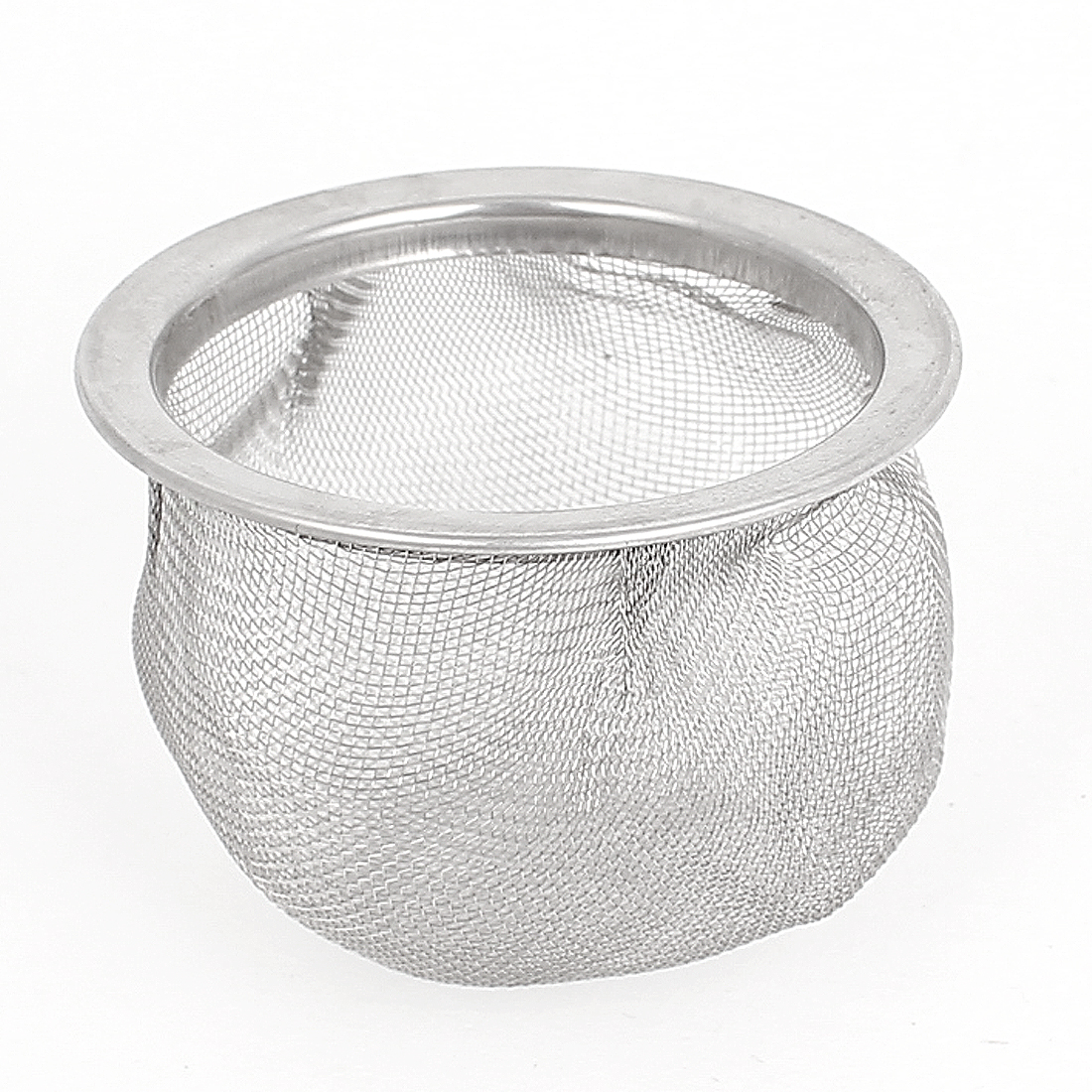 55mm Dia Silver Tone Stainless Steel Basket Mesh Net Tea Strainer