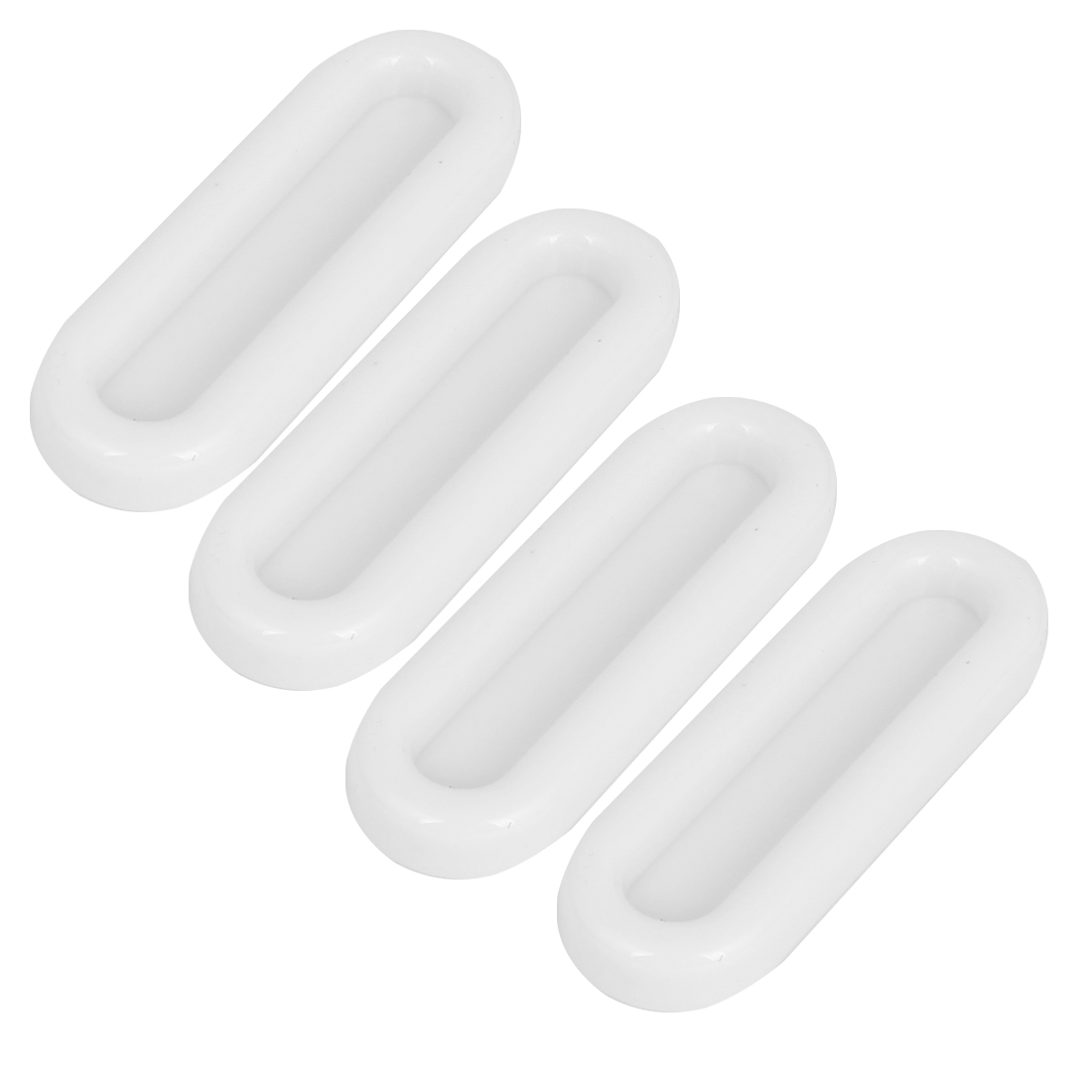 4PCS White ABS Self-adhesive Window Chest Cupboard Handle Puller Hardware