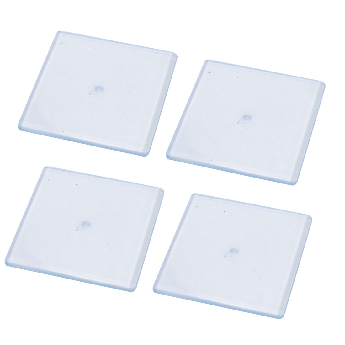4Pcs Clear Scalable 20-55mm Tables Chairs Furniture Protection Square Pad