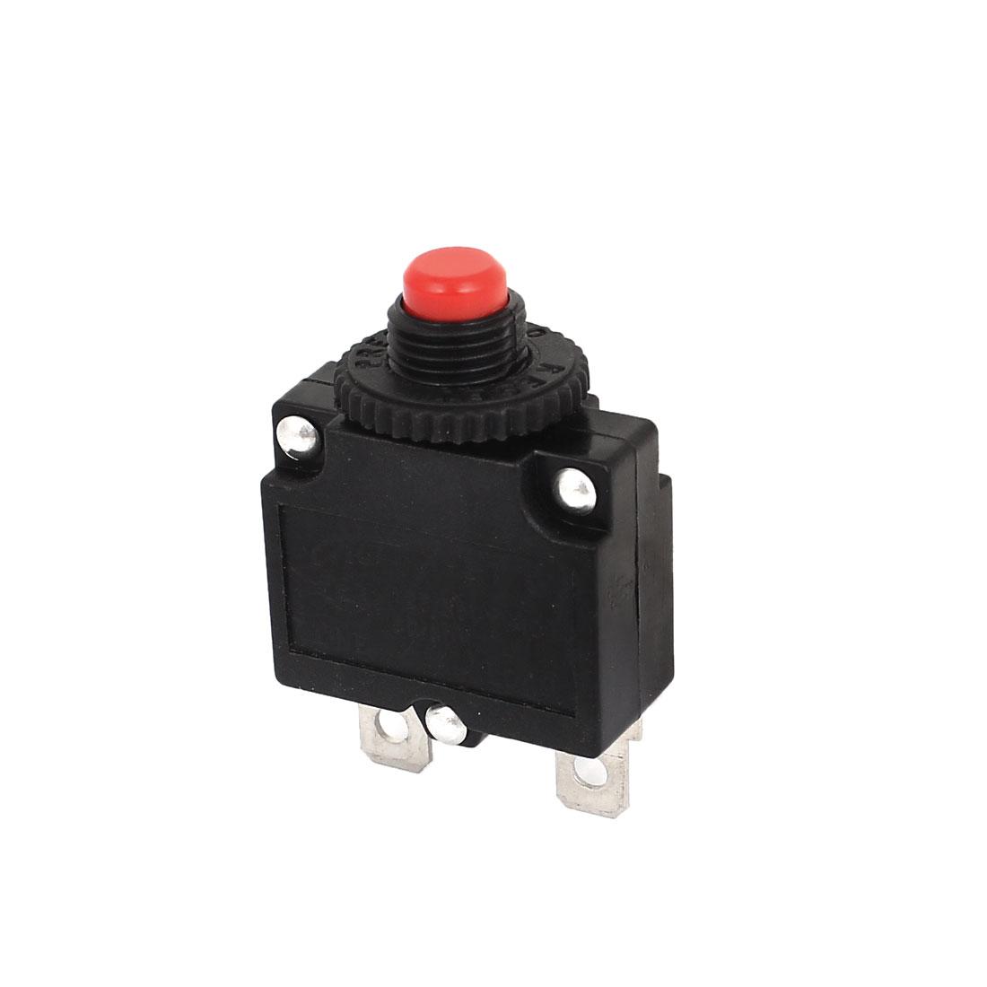 AC125/250V 15A 2P Air Compressor Push Reset Circuit Breaker Overload Protector