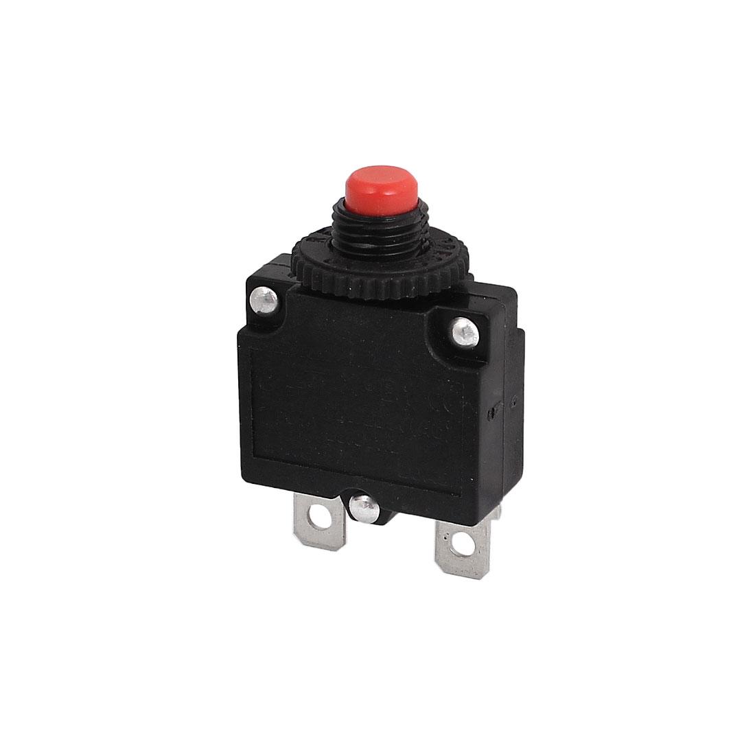 Air Compressor 10mm Thread 2P Circuit Breaker Overload Protector AC125/250V 10A