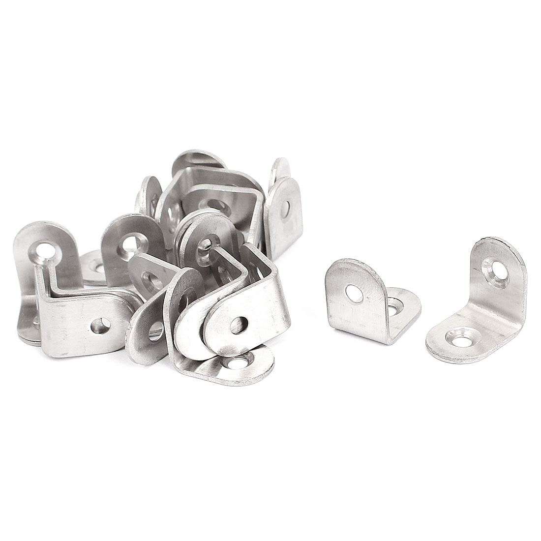 Furniture Table 20x20mm L Shaped Angle Brackets Corner Braces Supports 20pcs