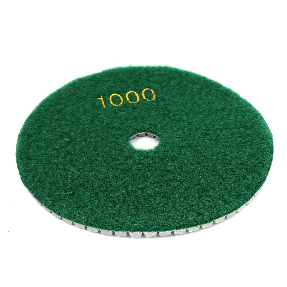 Concrete Marble Wet Dry Diamond Polishing Buffer Pad Disc 1000 Grit 125x15mm