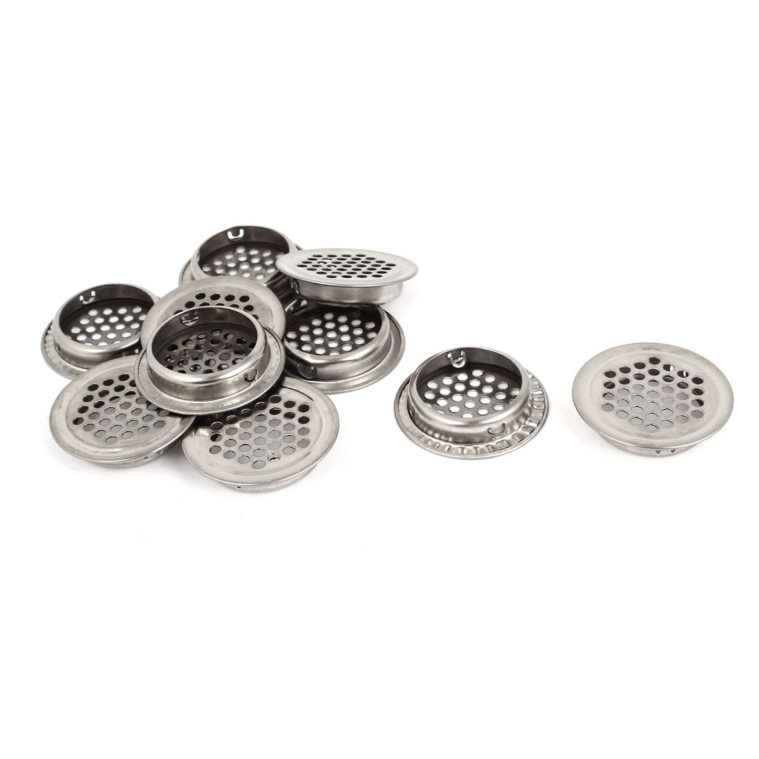10pcs 35mm Diameter Round Stainless Steel Mesh Cabinet Air Vent Louver Cover