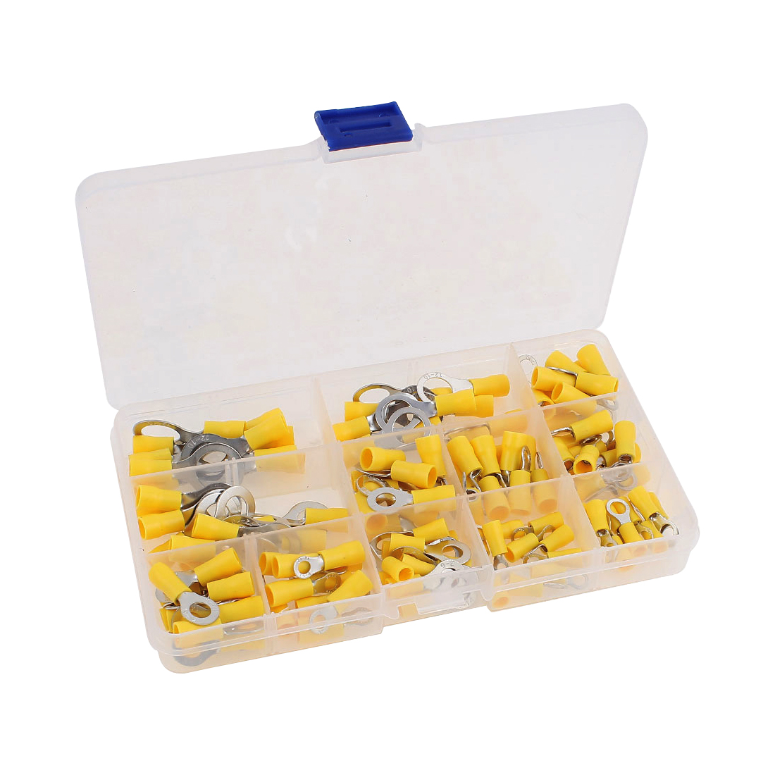 120 Pcs Insulated Ring Crimp Terminal Assorted Set Electrical Wiring Connector