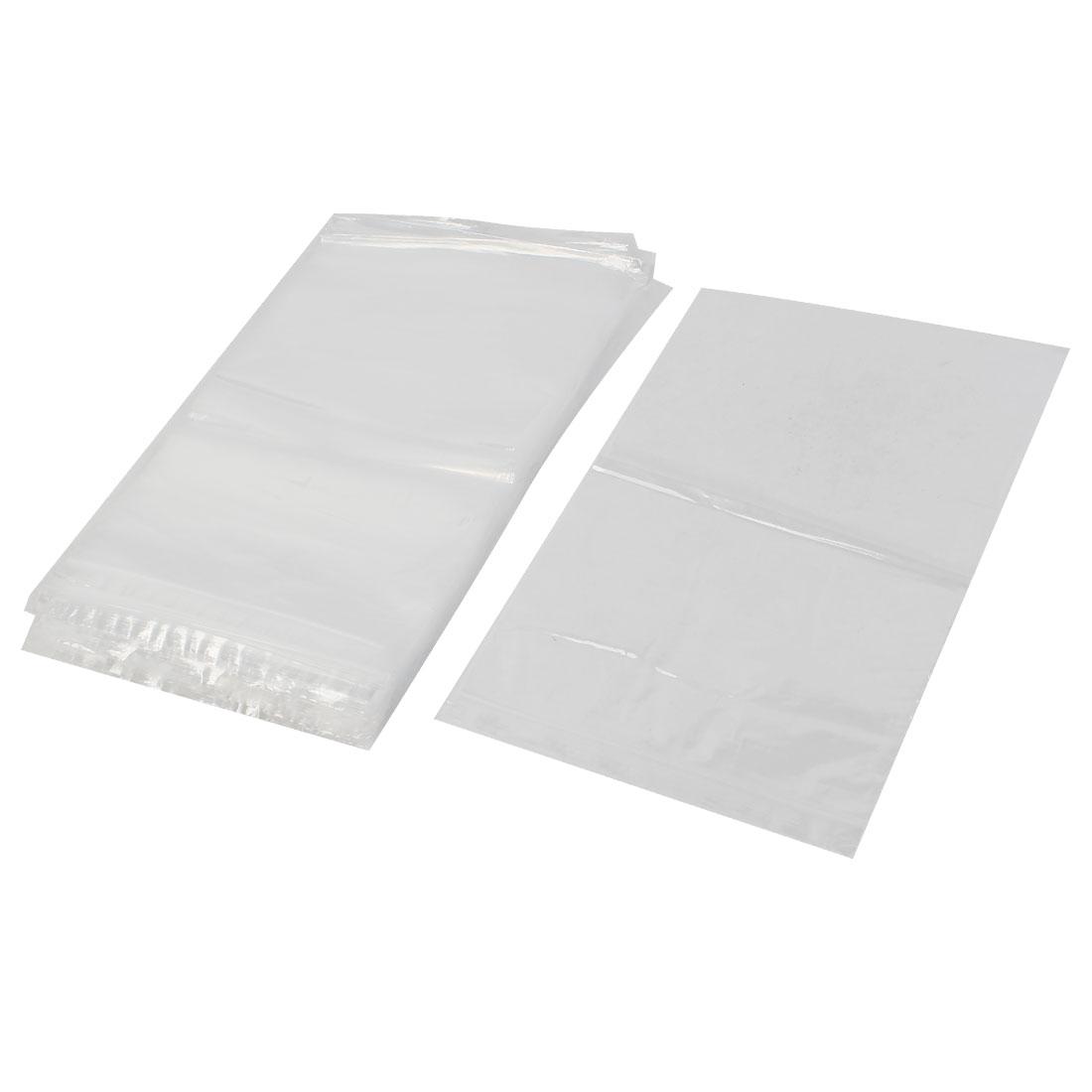 100Pcs 29x40cm Ziplock Bags 2Mil Clear Poly Plastic Reclosable Zip Seal