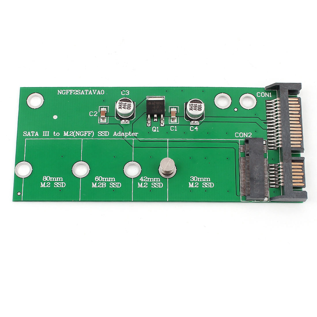 SATA III to 67pin B key M.2 NGFF SSD Converter Adapter Card for DOS/Win7/Linux