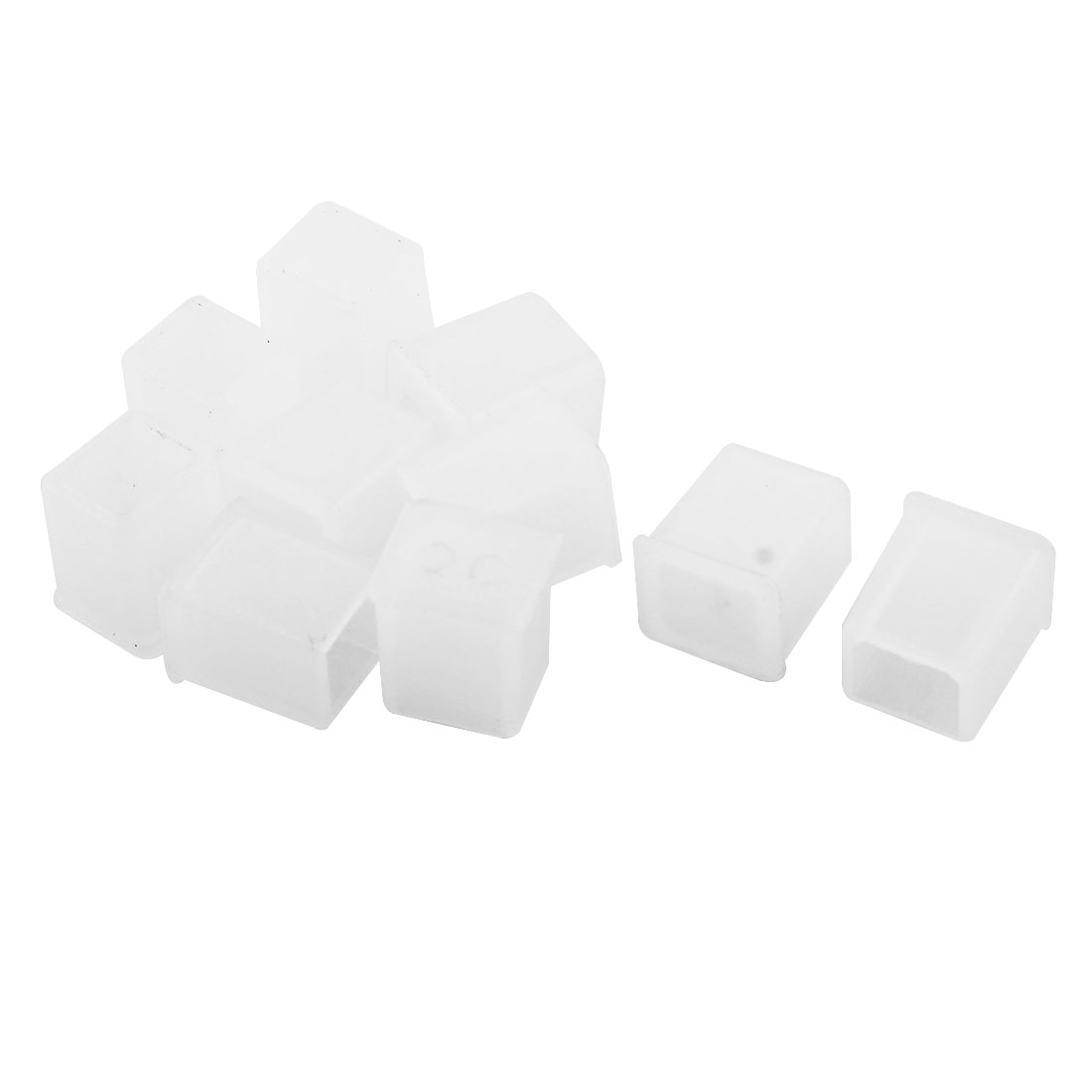 10 Pcs Clear Plastic Anti Dust Cover Cap Protector for USB-B Male Port Printer