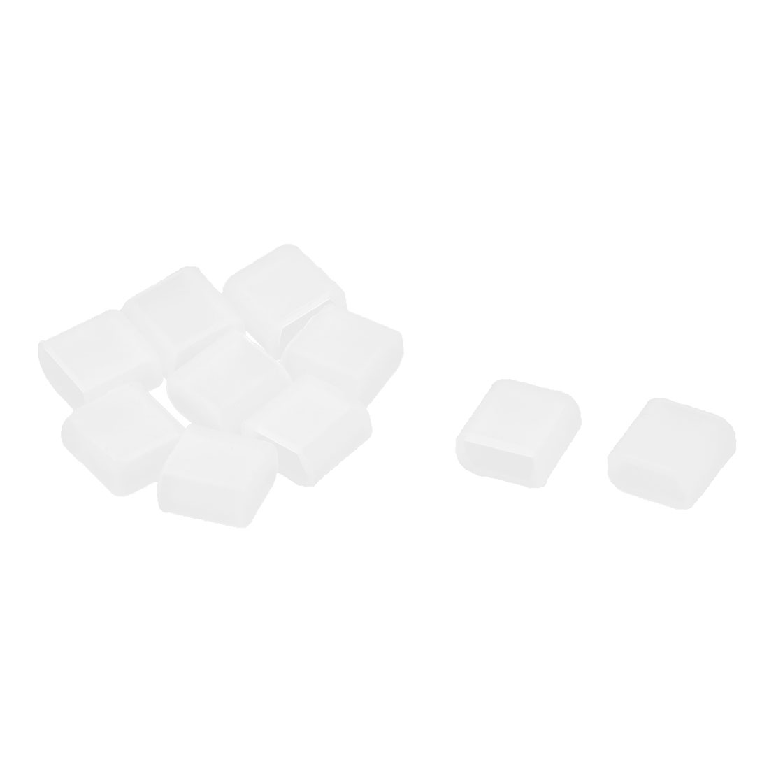Rubber Mini USB Port Anti Dust Plugs Protector Cover Cap Clear 10PCS