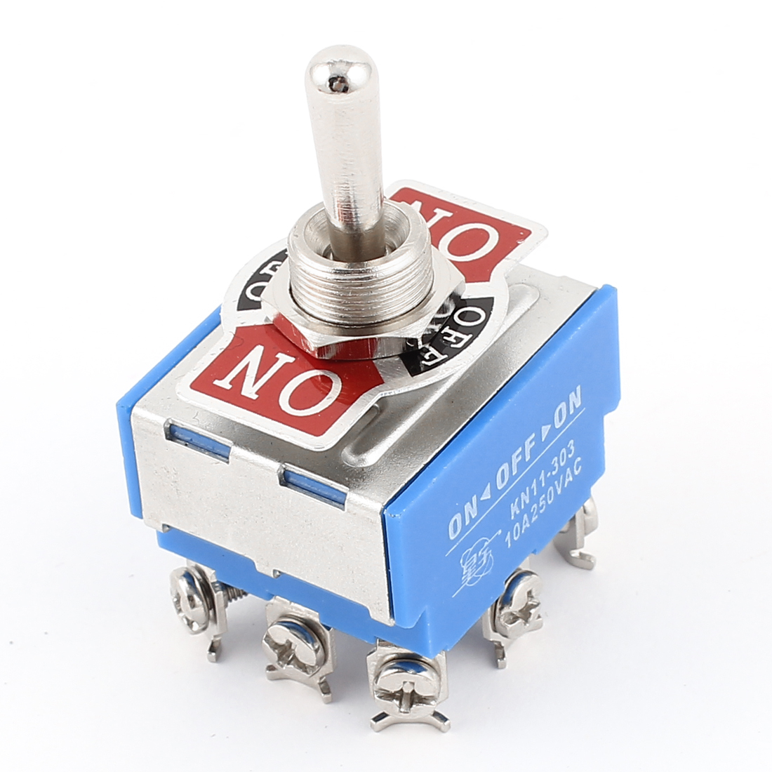 AC 250V 10A 9 Screw Terminals 3PDT 3Position ON/OFF/ON Latching Toggle Switch