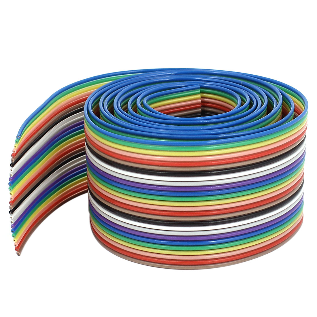 1.2M 4Ft 1.27mm Pitch 26 Pin Flat Rainbow Color IDC Ribbon Extension Cable Wire