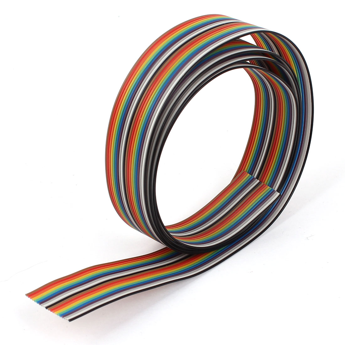 4ft 1.2m Long 20 Pin 1.27mm Pitch Flexible Flat Color Rainbow Ribbon Cable Wire
