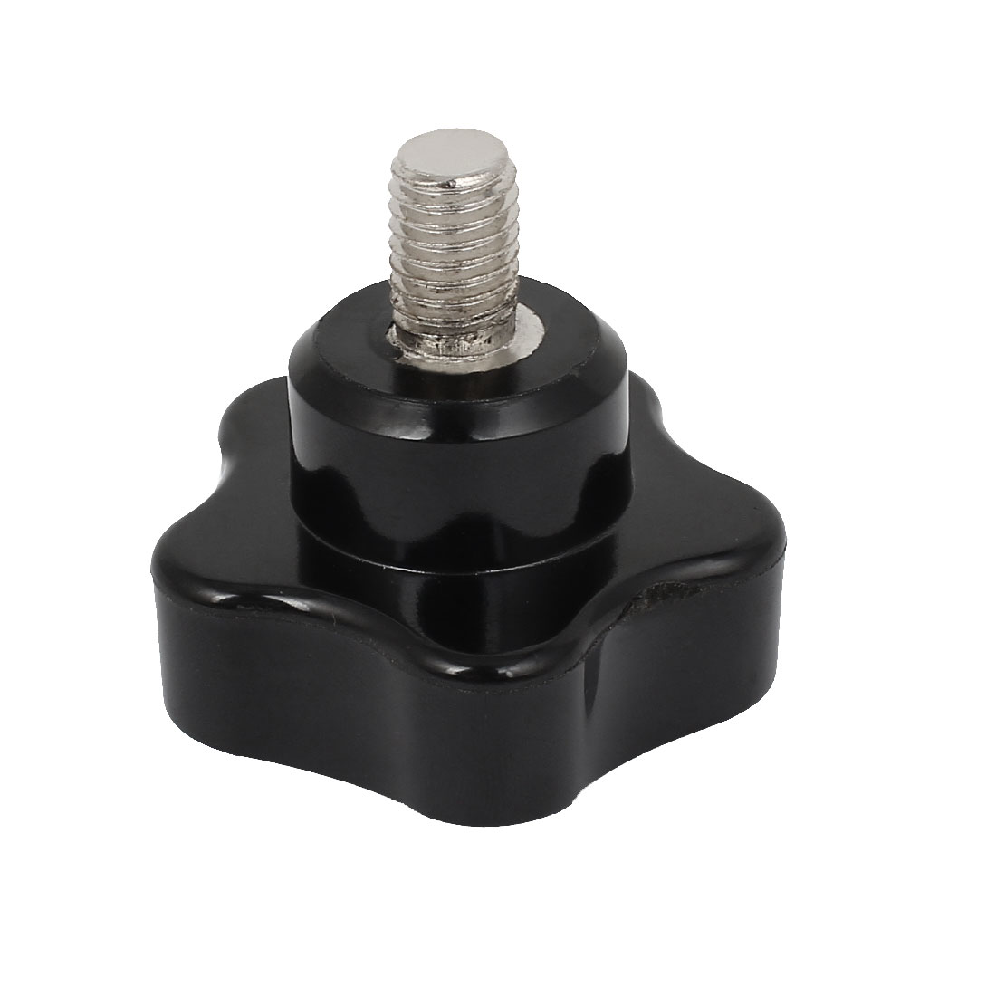 M10x14mm Thread Black Plastic Star Head Screw On Clamping Knob Grip 47mm Dia