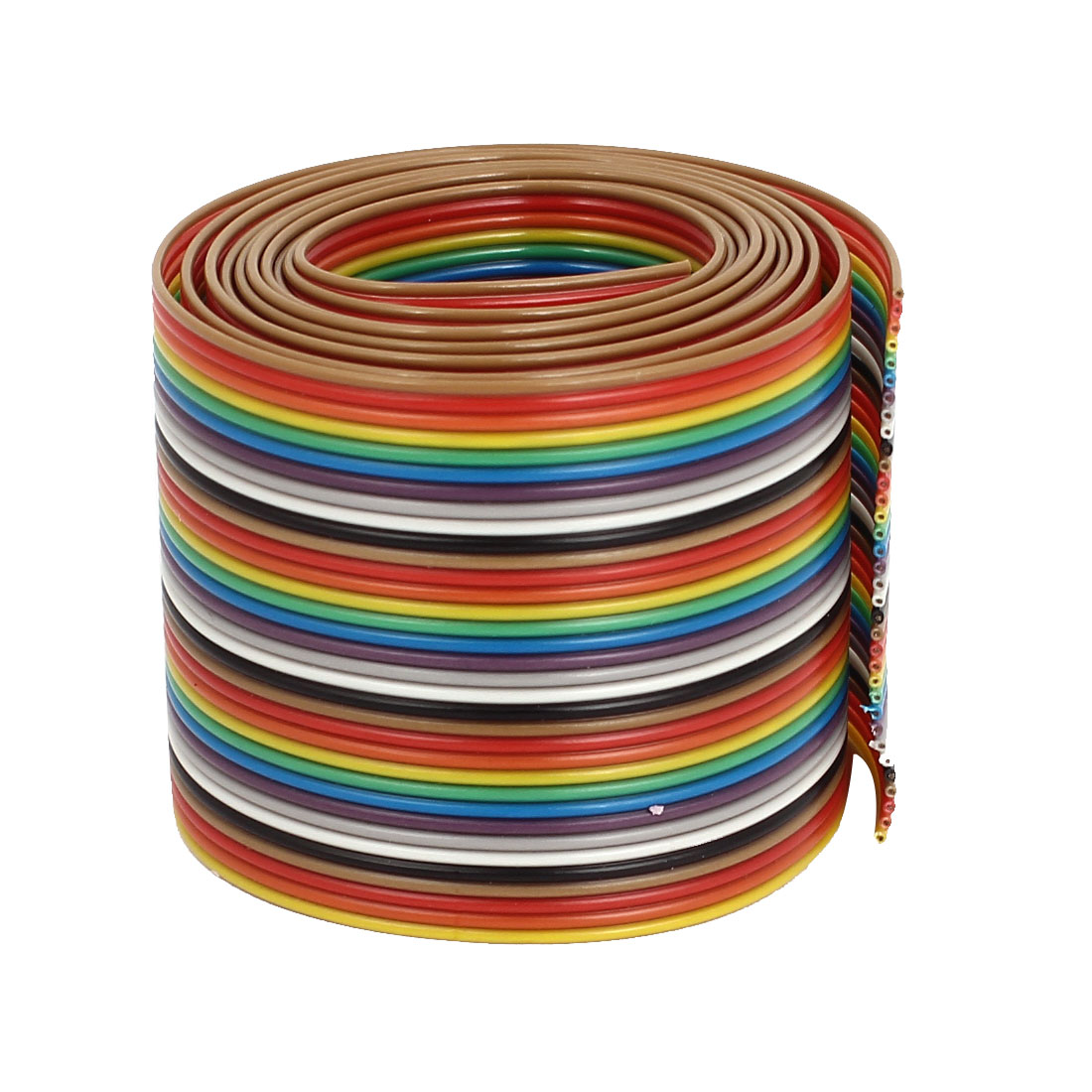 1.2M 4Ft 1.27mm Pitch 34 Pin Flat Rainbow Color IDC Ribbon Extension Cable Wire