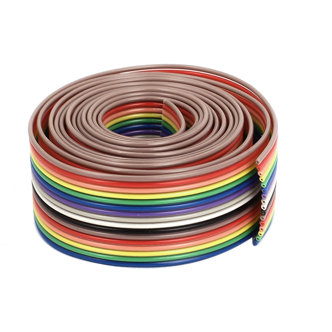 1.2M 4Ft 1.27mm Pitch 16 Pin Flat Rainbow Color IDC Ribbon Extension Cable Wire