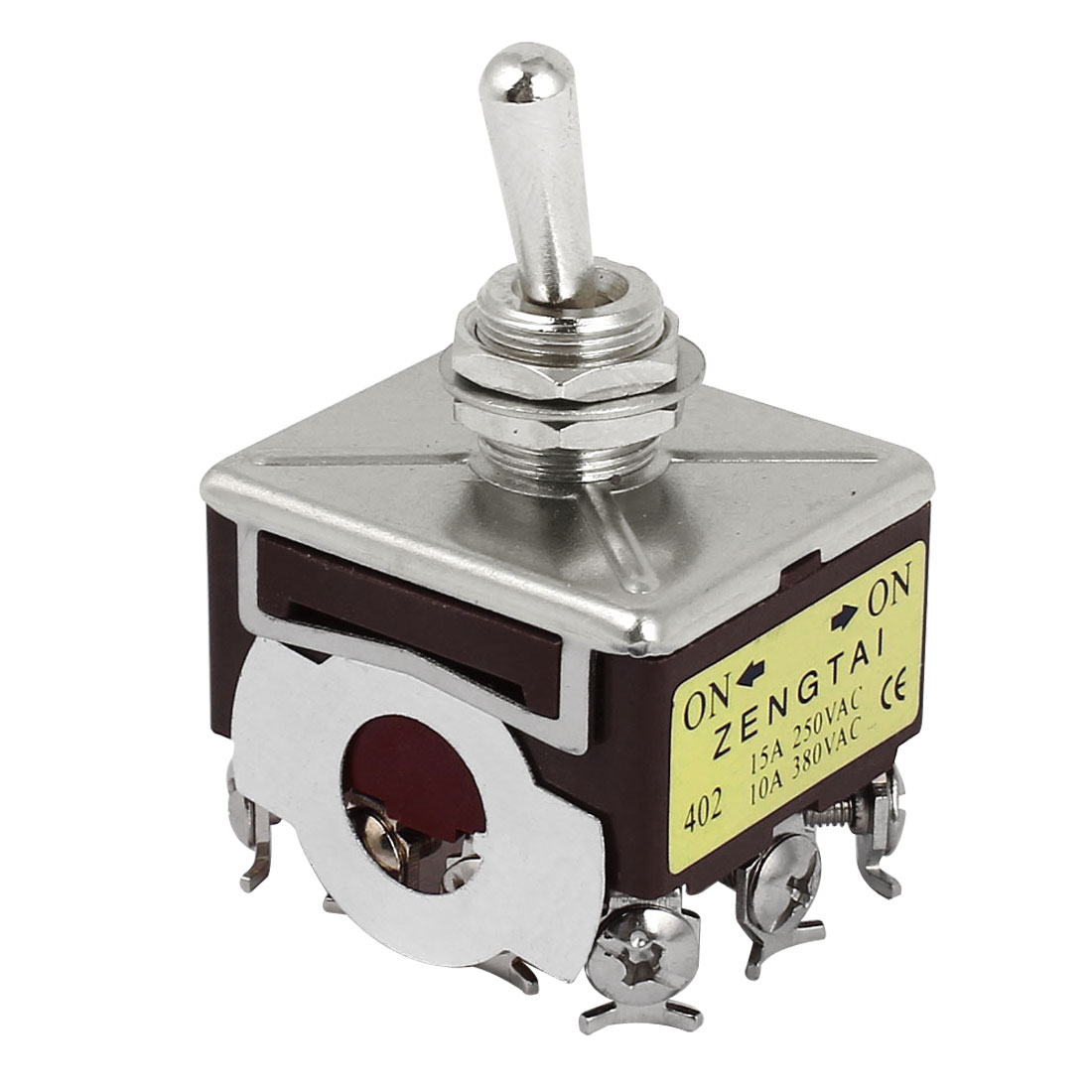 AC 250-380V 10-15A ON/OFF/ON 3-Position 4PDT 12 Screw Terminals Latching Toggle Switch