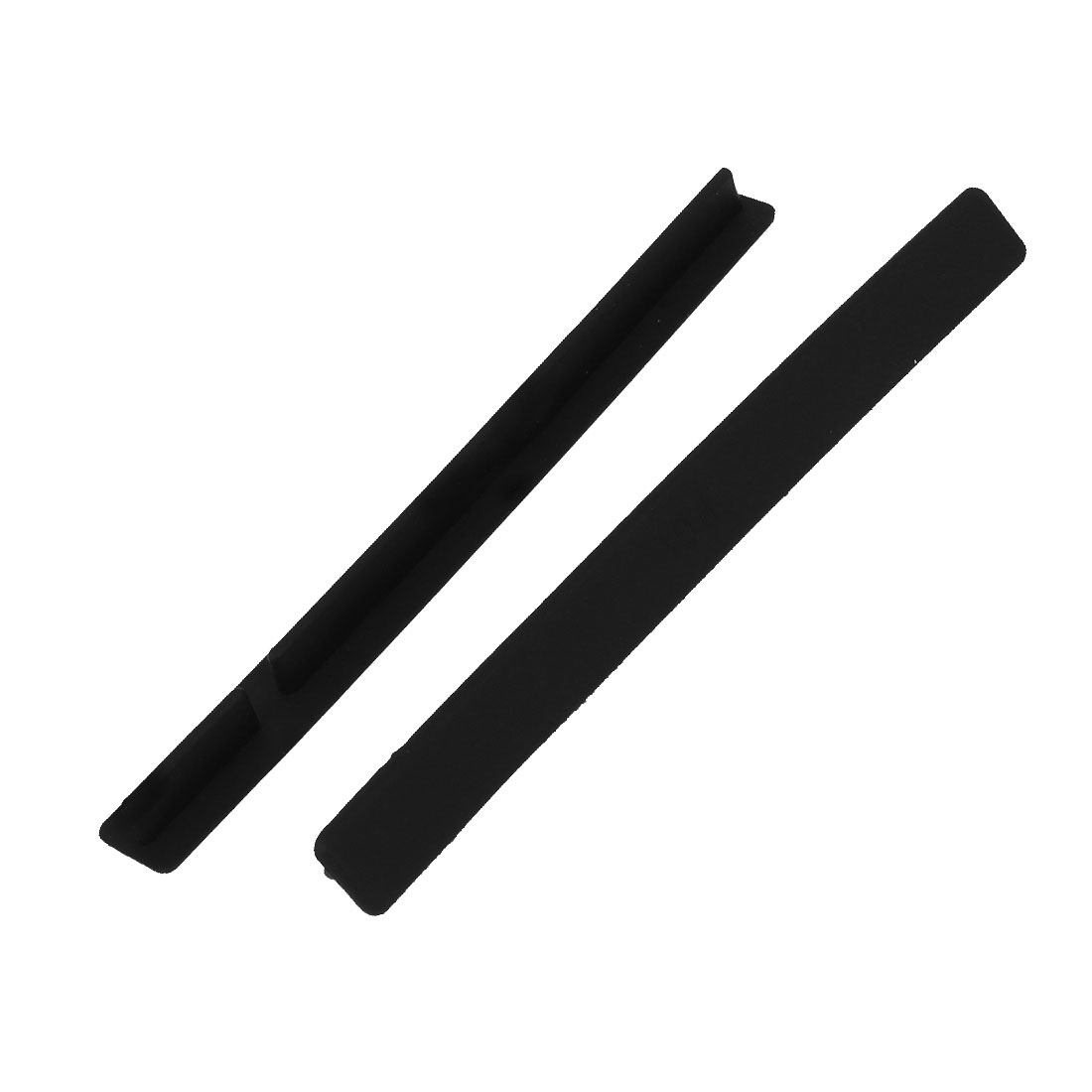 Silicone Conventional PCI Slot Anti-dust Plugs Cover Protector Black 2PCS