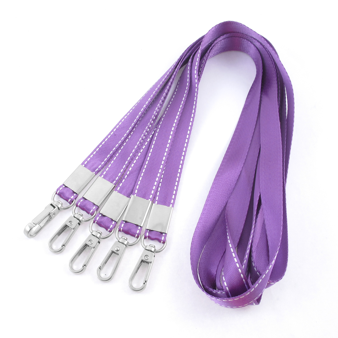 Work Cards USB Keys Phone Holder Keychain Cord Lanyard Neck Strap Purple 5pcs