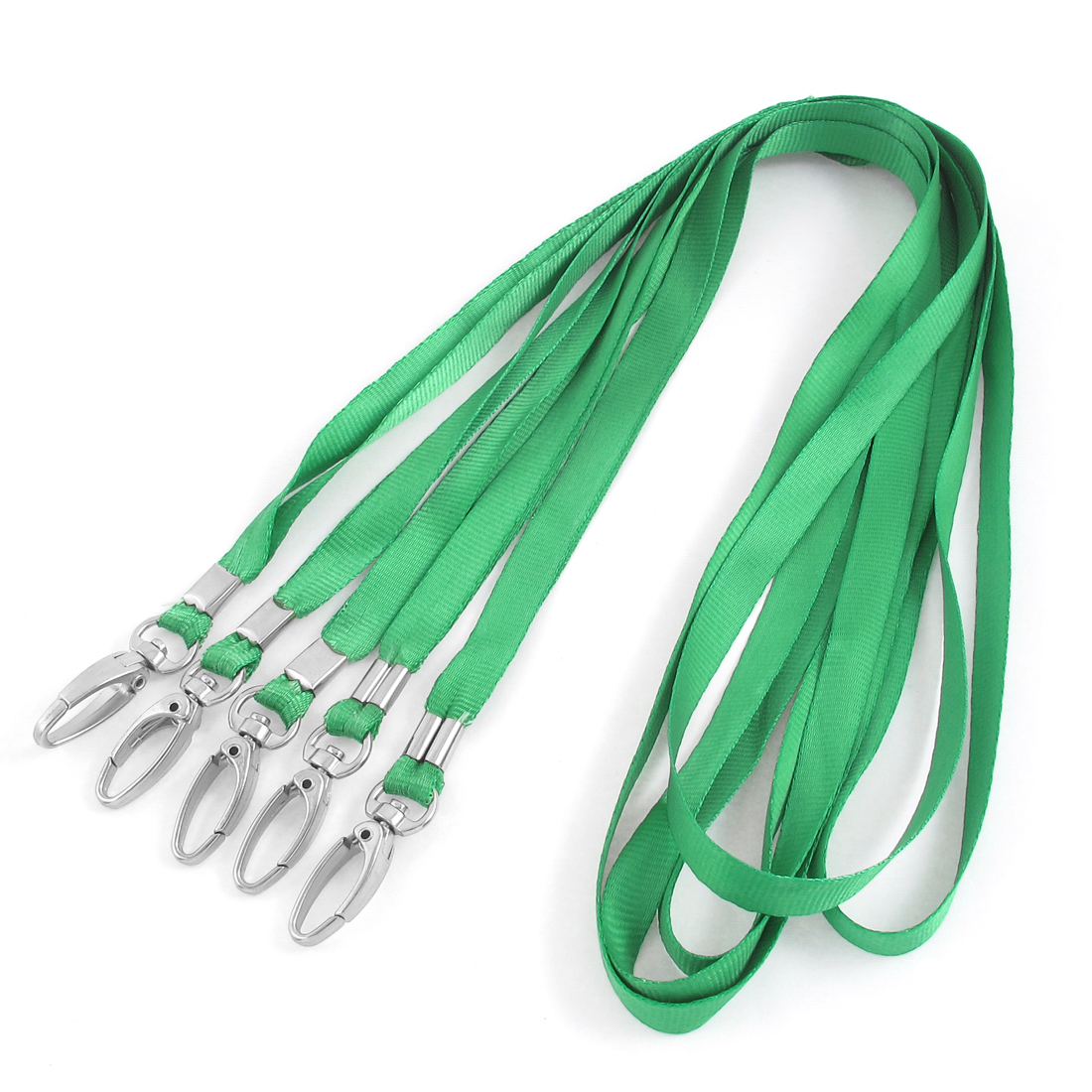 Mobile Phone ID Work Cards USB Holder Lanyard Neck Strap Green 45cm Long 5pcs