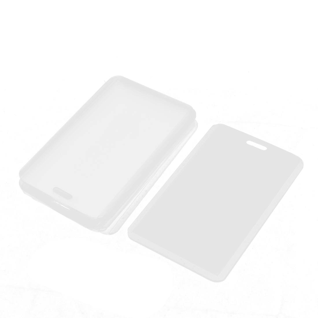 Plastic Vertical Photo Name Tag Company Position ID Work Badge Card Holder 10PCS
