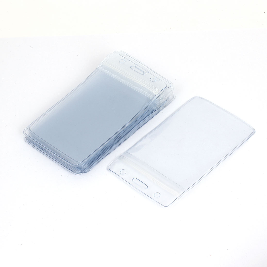 Plastic Business Staff Name Tag Position Exhibition Badge ID Card Holder 10PCS