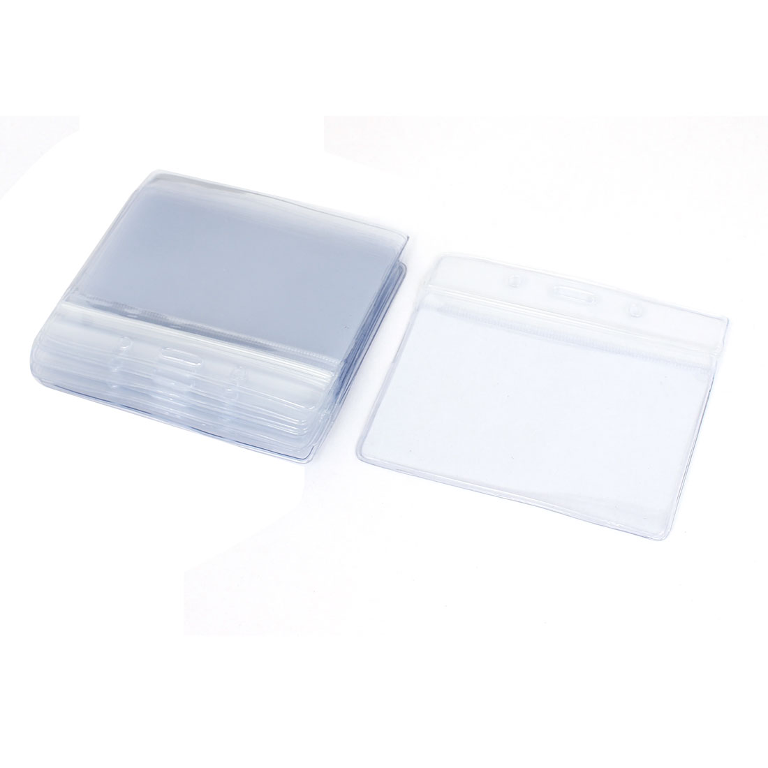 Plastic Company Work Exhibition Name Tag Position Badge ID Card Holder 10pcs