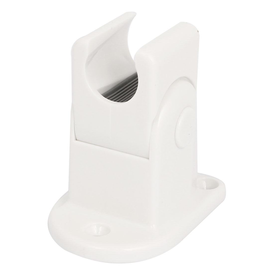 Bathroom Screw Mounted Plastic Adjustable Bracket Shower Head Holder White