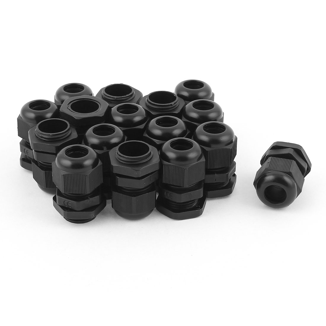 16pcs PG11 Waterproof Cable Glands Plastic Connector for 5-10 mm Dia Wire