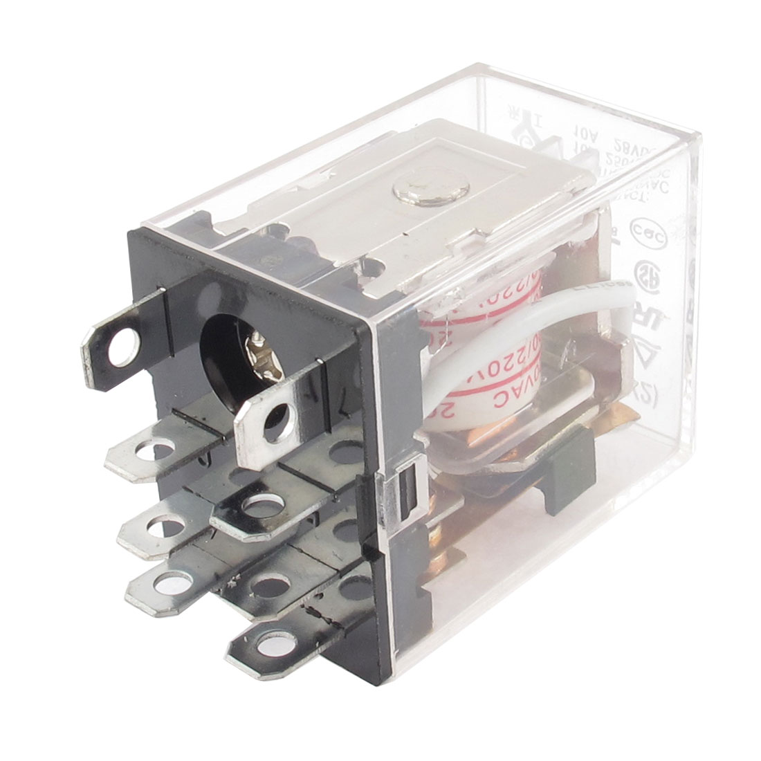 AC 200/220V Coil 10A Power Relay 8 Pin DPDT JQX-13F LY2