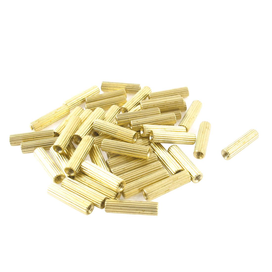 50 Pcs Hexagonal Nut 1.5mm Female Brass Standoff Spacer 3mmx12mm