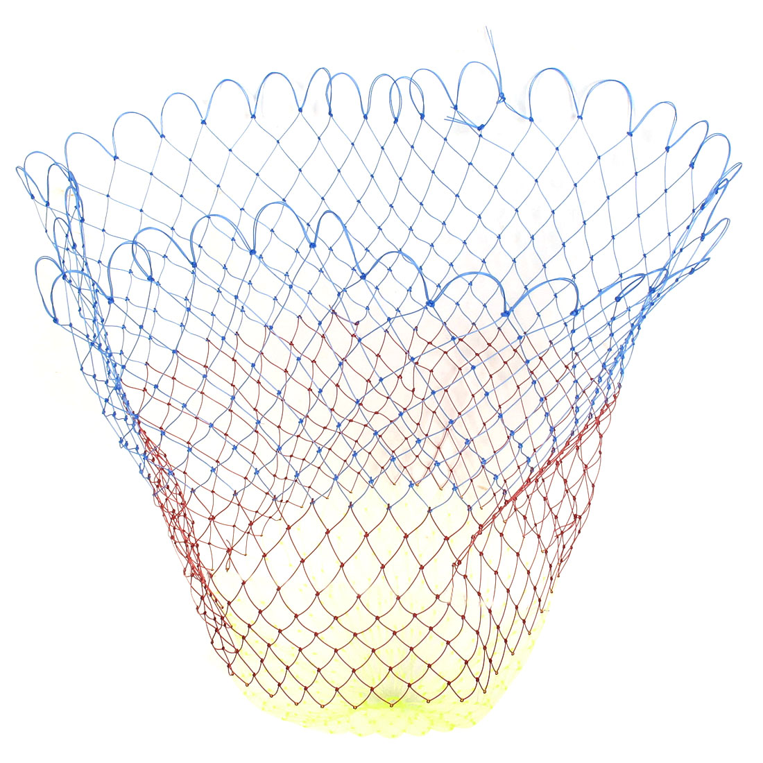 "Multicolor 2 x 2cm Mesh Hole 21"" Depth Foldable Plastic Fishing Net"