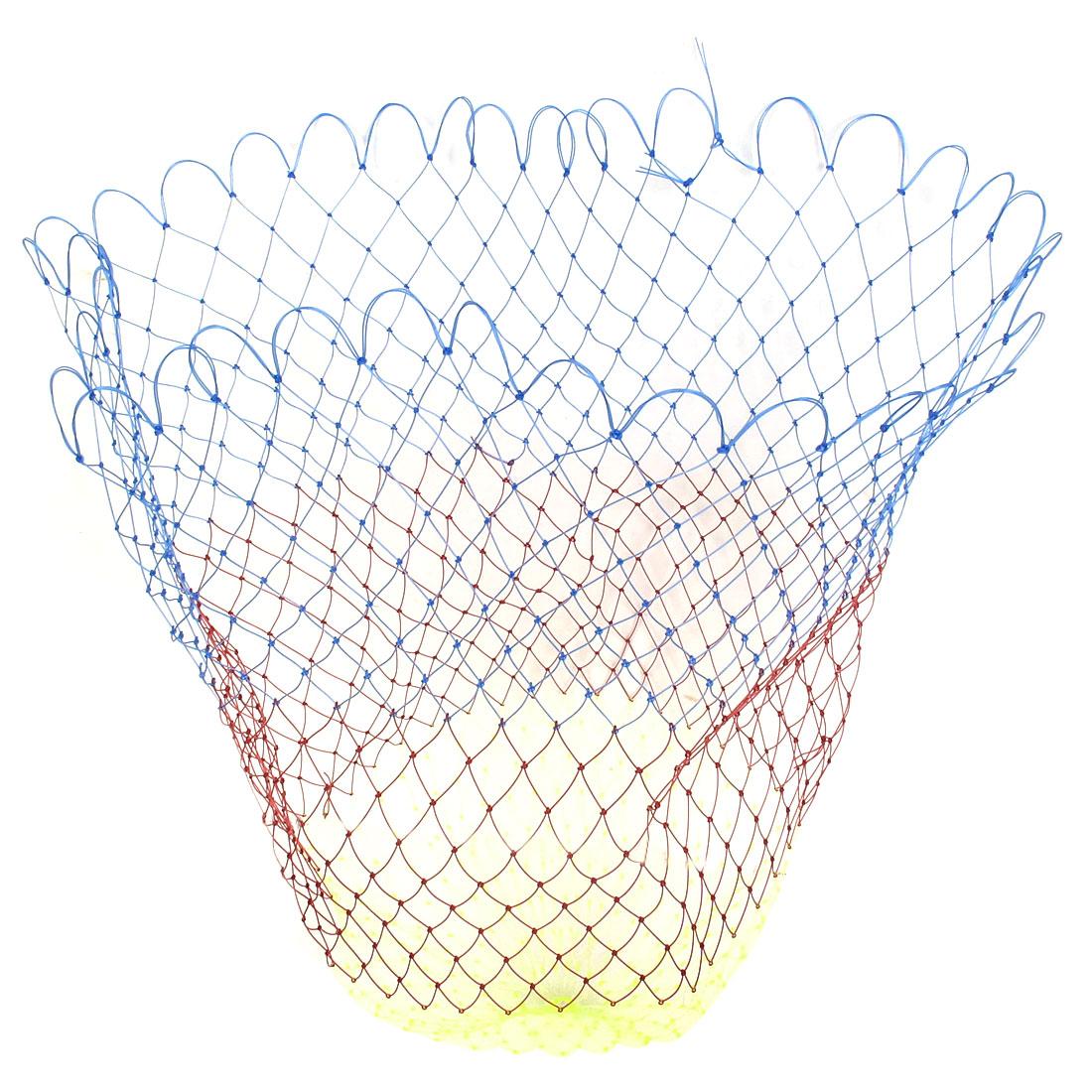 "Multicolor 2 x 2cm Mesh Hole 21"" Depth Foldable Plastic Fishing Net"