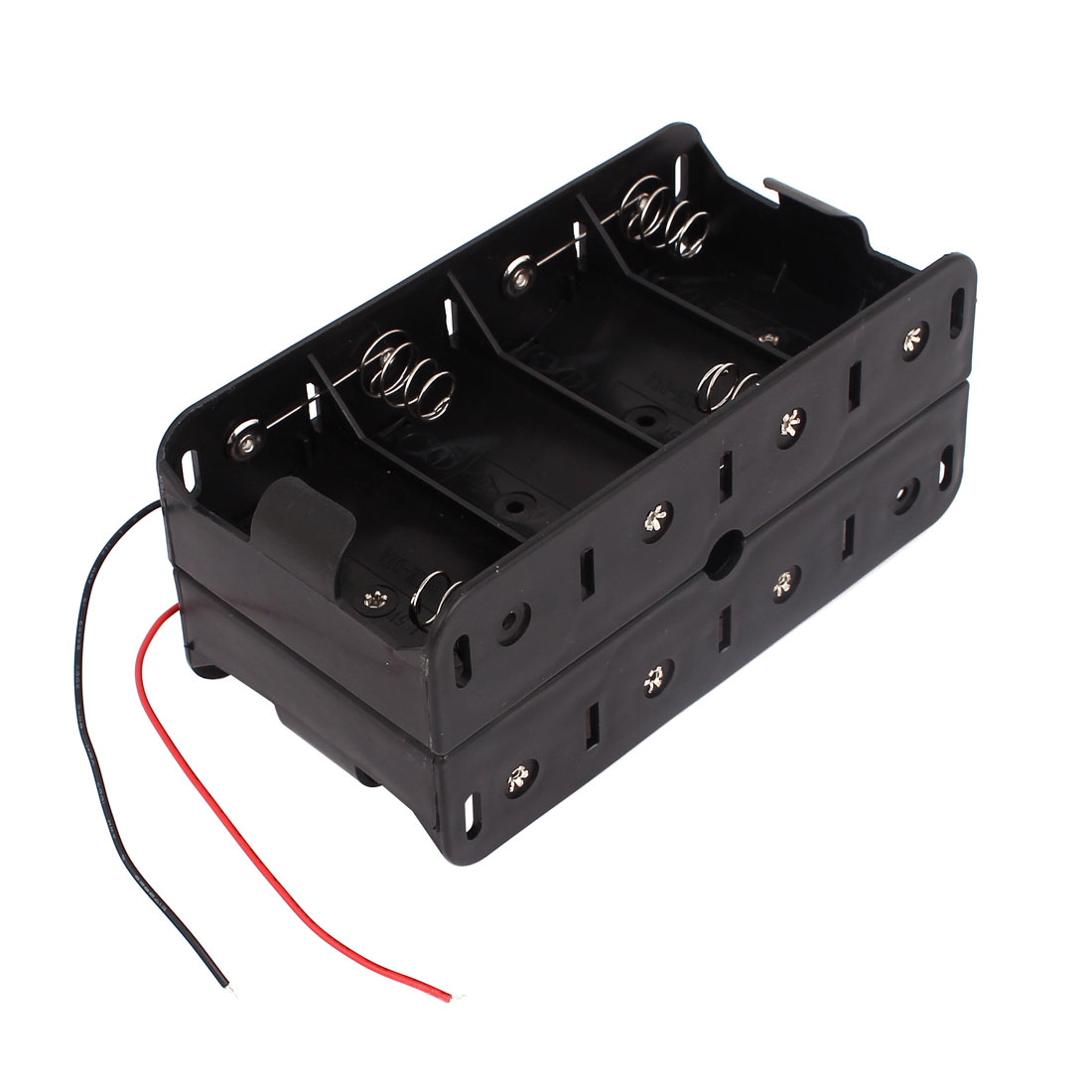 Dual Wire Leads Double Sides Storage Case Box Holder for 8 x 1.5V D Size Battery