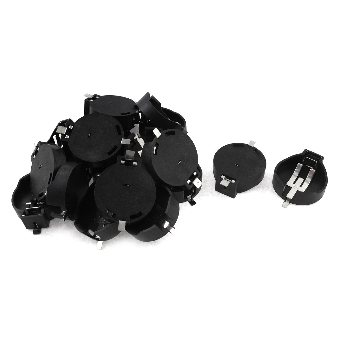 20pcs CR2450 Battery Button Coin Cell Holder Socket Case Black