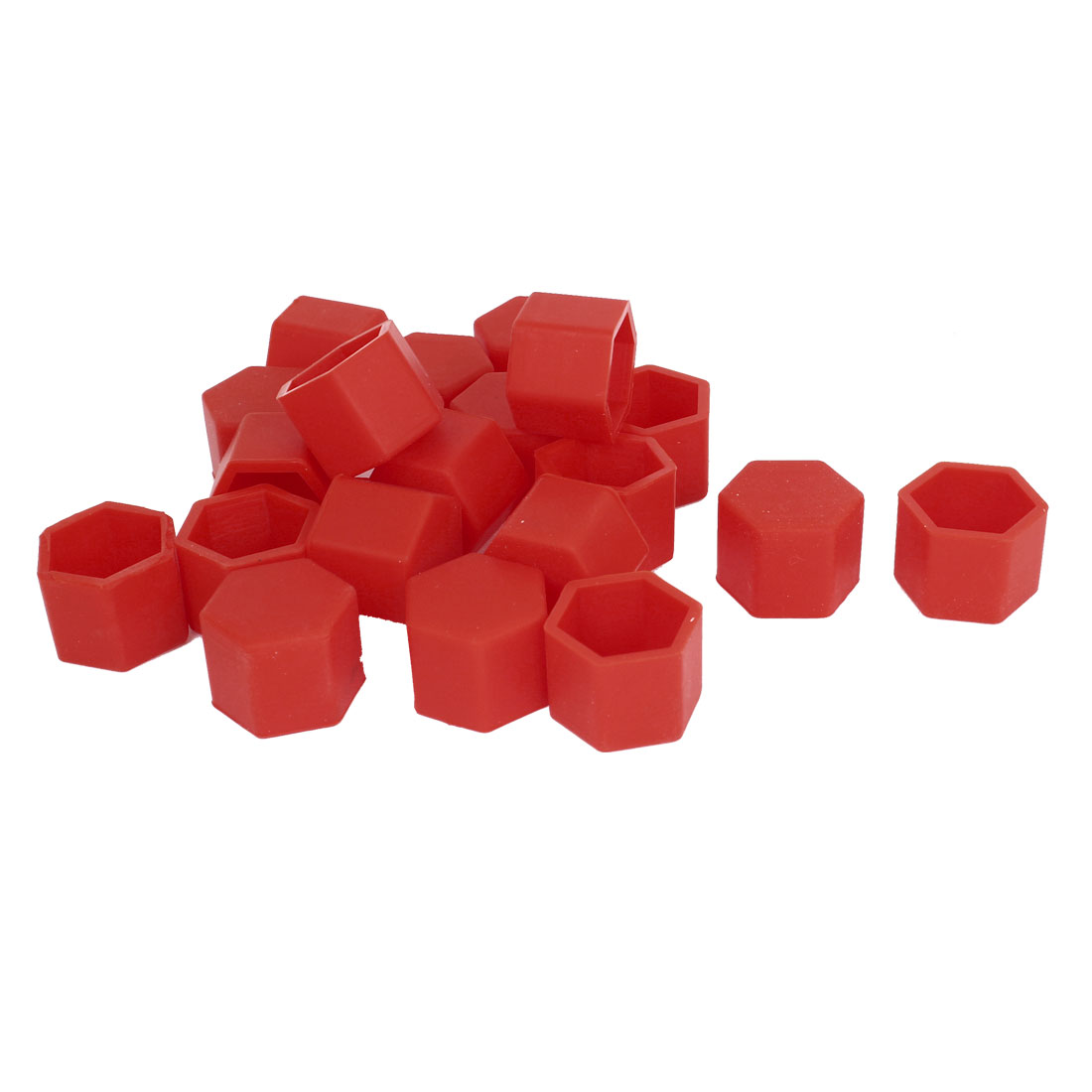 20 Pcs Red Silicone Wheel Lugs Nuts Bolts Covers Hub Tyres Screw Dust Caps