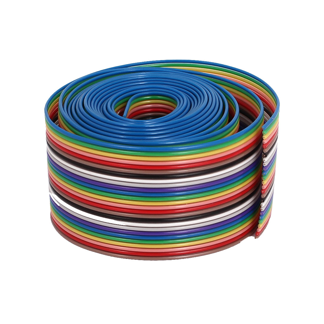 1.75M 1.27mm Pitch 26 Pin Flat Rainbow Color IDC Ribbon Extension Cable Wire