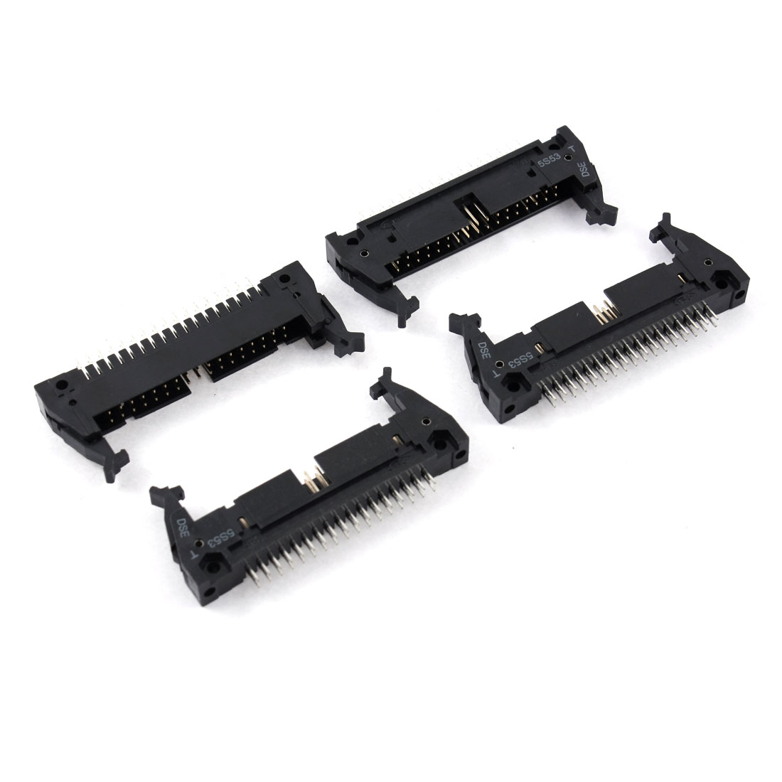 Double Rows 2.54mm 34Pins Lock Type Straight IDC Pin Headers Connector 4Pcs