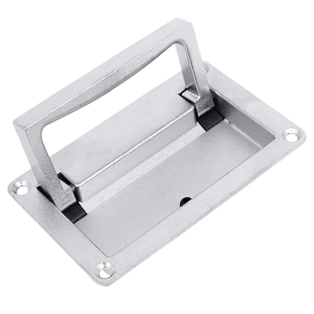 Furniture Cupboard Cabinet Door Rectangular Recessed Foldable Pull Handle 11x7cm