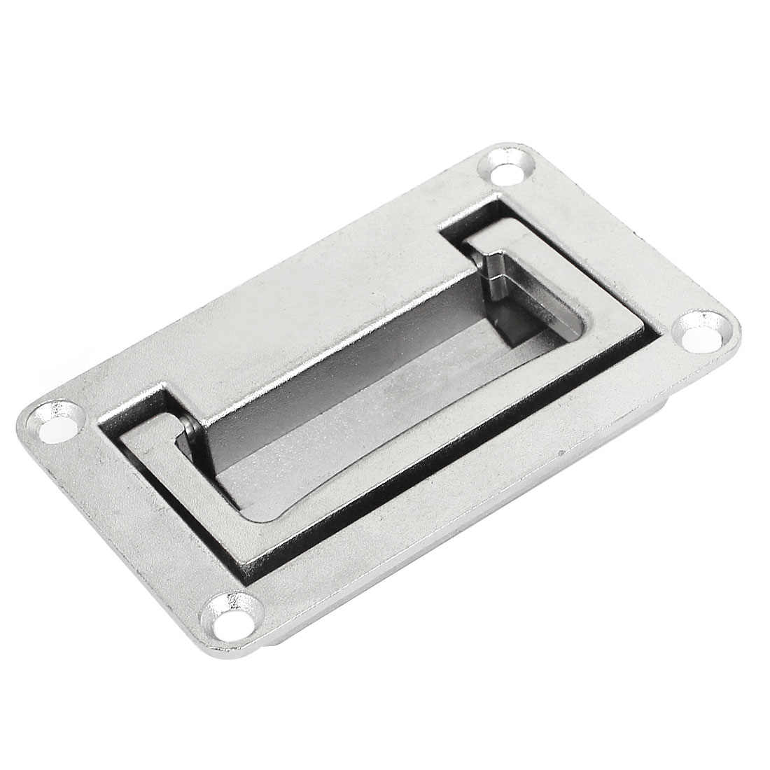 Cupboard Cabinet Rectangle Shaped Recessed Folding Pull Handle Grip 95 x 60mm