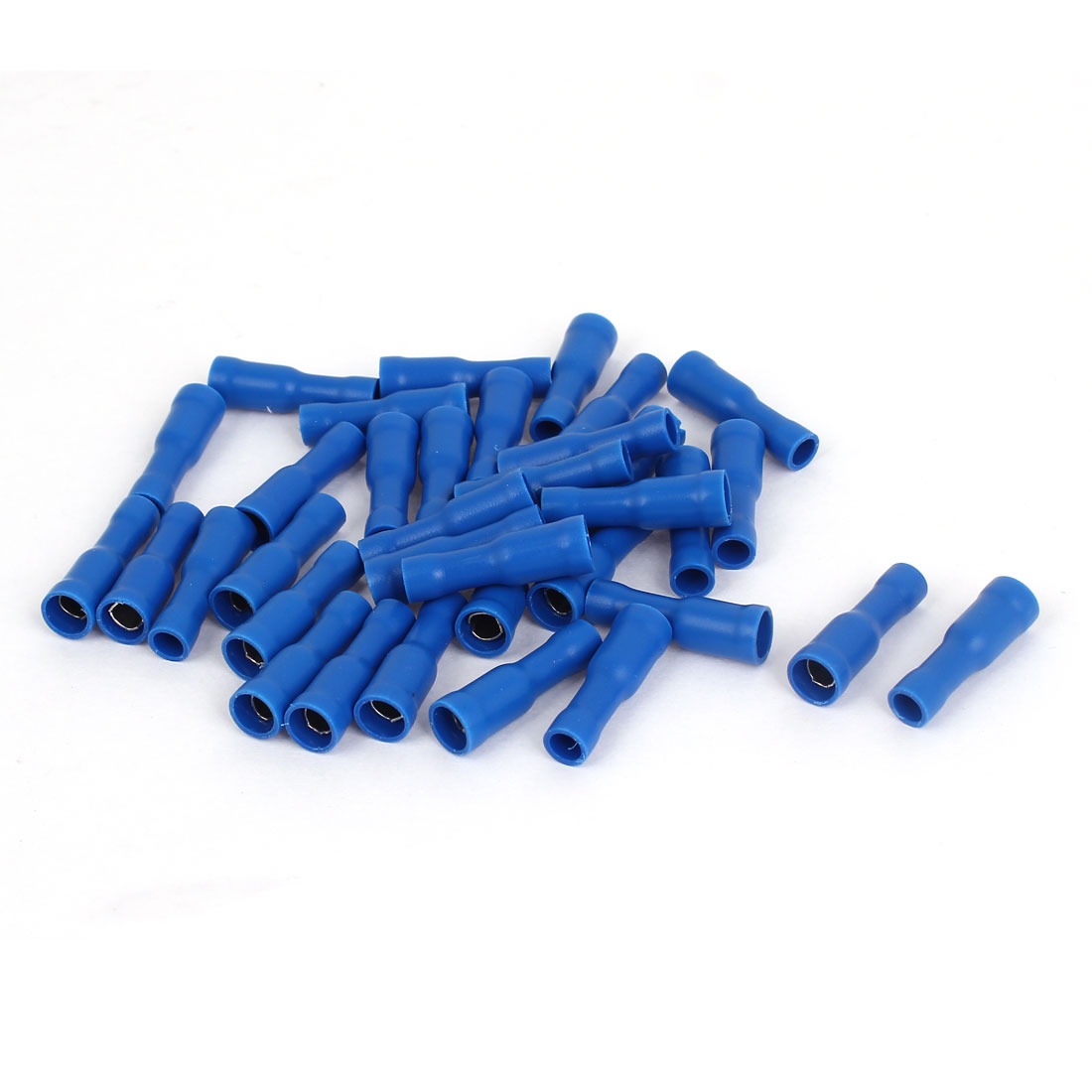 35 Pcs FRD1-156 12-10 AWG Blue PVC Sleeve Fully Insulated Crimp Terminals Cable Connector