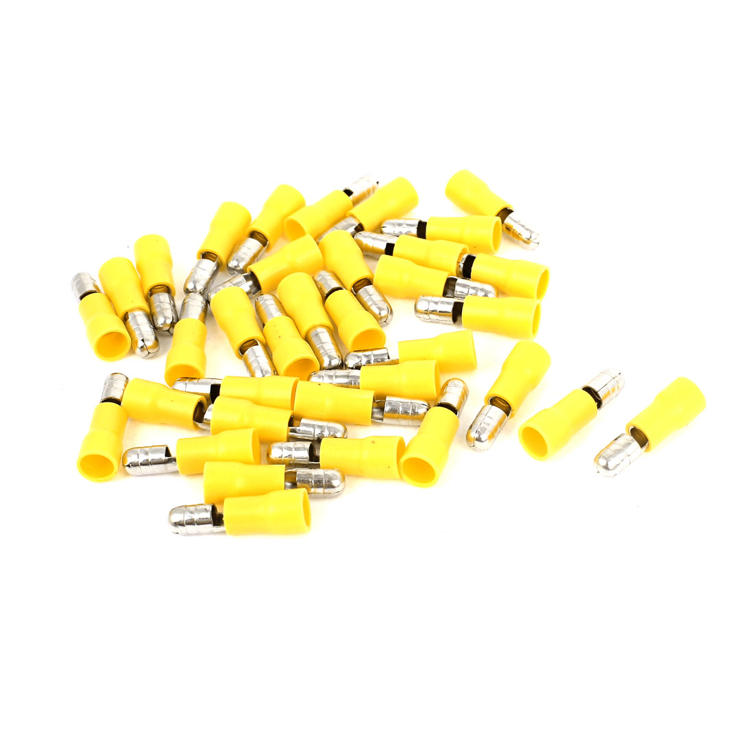 35Pcs MPD5-195 12-10AWG Yellow PVC Sleeve Insulated 5mm Cable Terminals Crimp