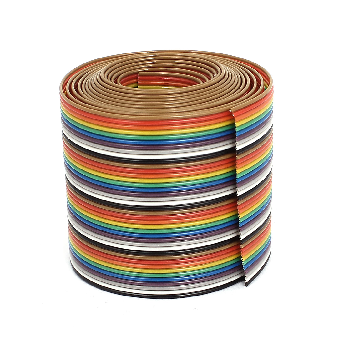 1.75M 1.27mm Pitch 40 Pin Flat Rainbow Color IDC Ribbon Extension Cable Wire