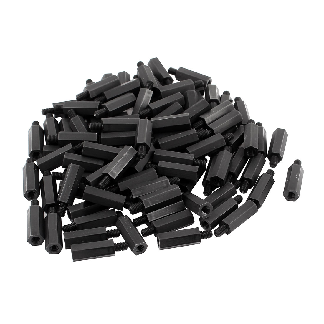 50pcs M4 Male x Female 19mm+6mm Nylon Spacer Hex Standoff Pillar for PCB Board