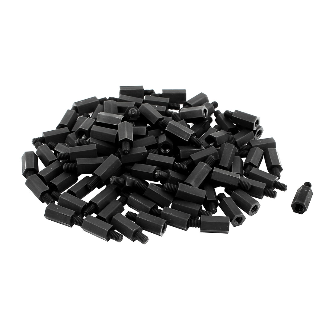 Motherboard M4 Thread 13mm+6mm Nylon Hex Standoff Stand Off Spacer Pillar 50Pcs
