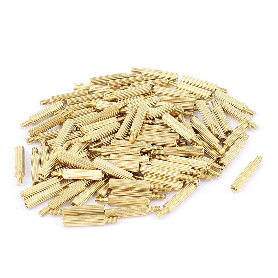 100pcs M2 13mm+4mm Female to Male Knurling Brass Standoff Spacer Pillar for PCB Motherboard